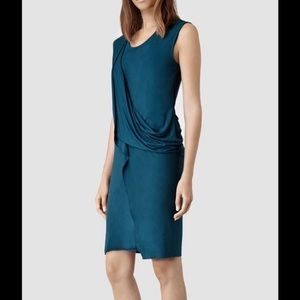 All Saints Amelia turquoise dress 2